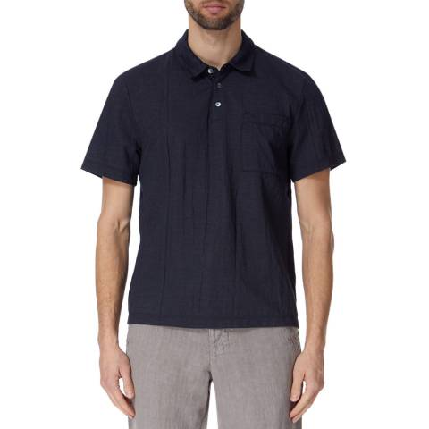 James Perse Vintage Chmbray Knit Polo