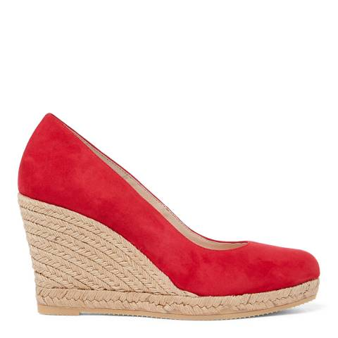 Laycuna London Red Suede Wedge Spanish Espadrilles