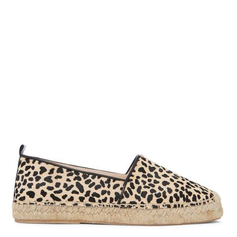 Laycuna London Small Leopard Calf Hair Spanish Espadrilles