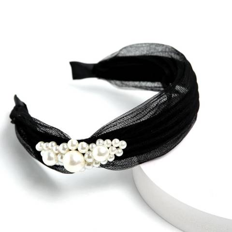 Amrita Singh Black Pearl Headband