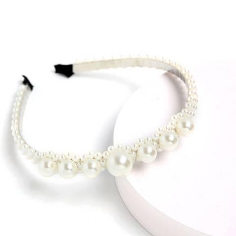 Amrita Singh White Pearl Headband