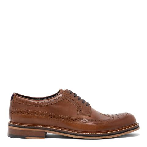 Thomas Partridge Tan Leather Pembrey Brogue Shoes