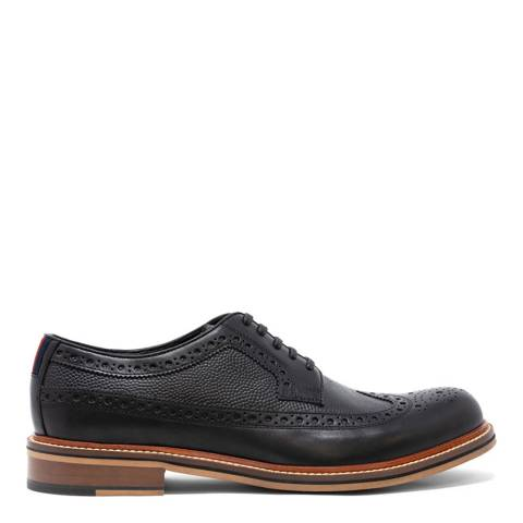 Thomas Partridge Black Leather Pembrey Brogue Shoes