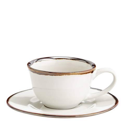 Soho Home Set of 4 Sola Espresso Cups & Saucers