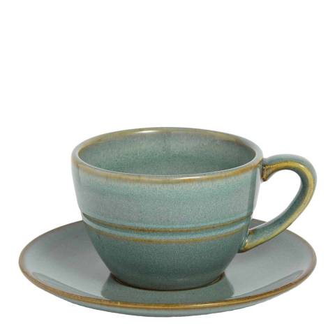 Soho Home Set of 4 Country House Flat White Cup and Saucers