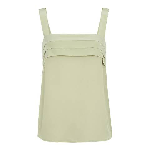 Reiss Green Paisley Silk Vest
