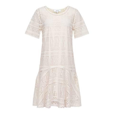 Reiss Off White Linda Lace Shift Dress