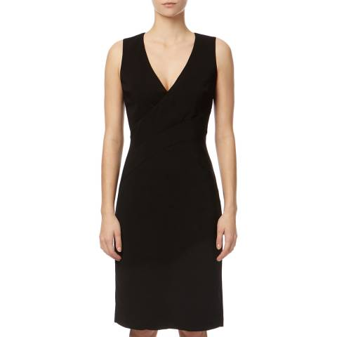 Reiss Black Carolina V-Neck Dress