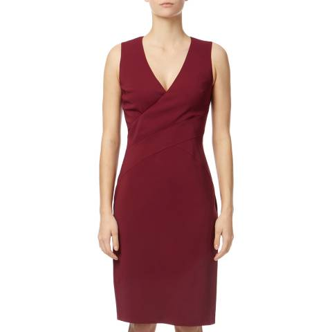 Reiss Purple Carolina V-Neck Dress