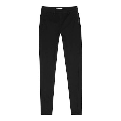Reiss Black Patti High Waist Stretch Jeggings