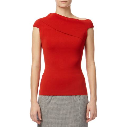 Reiss Red India Bardot Top