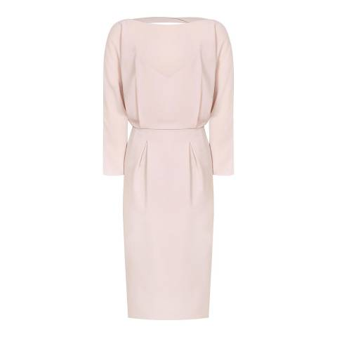 Reiss Cream Hannie Fitted Dress