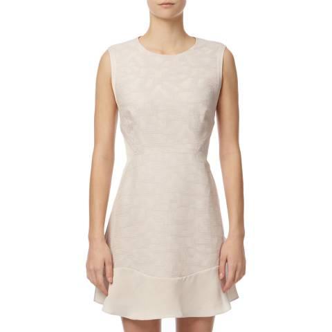 Reiss Blush Martine Lace Jacquard Dress