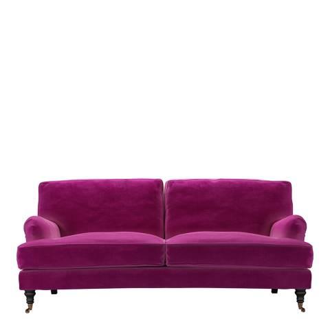 sofa.com Bluebell 3 Seat Sofa in Peony Cotton Matt Velvet