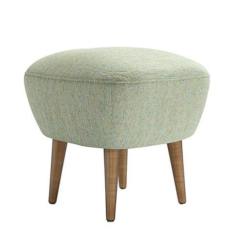 sofa.com Percy Small Square Footstool in Citrine Speckle