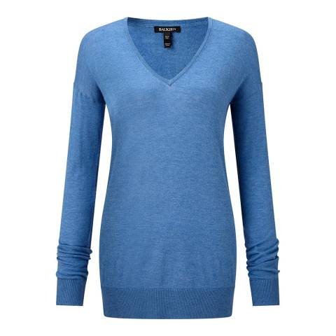 Baukjen Denim Blue Marion V-Neck Jumper