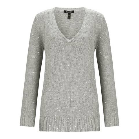 Baukjen Silver Grey Emelina Sequin Knit