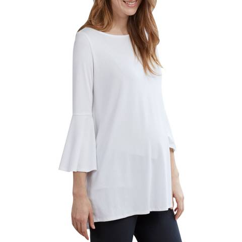 Isabella Oliver Pure White Pianna Maternity Top