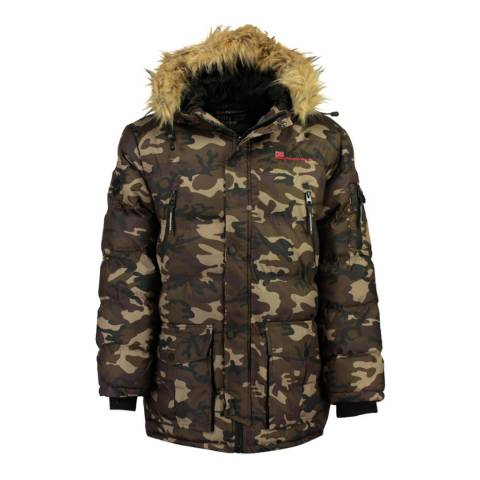Geographical Norway Khaki Camo Bravici Jacket