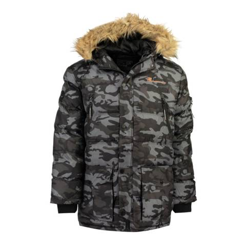 Geographical Norway Black Camo Bravici Jacket