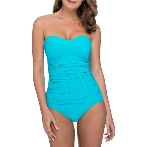 Gottex Turquoise Bandeau Swimsuit