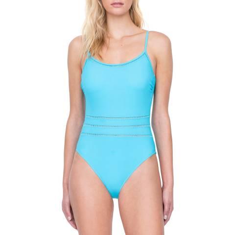 Gottex Aqua Round Neck Tank Swimsuit
