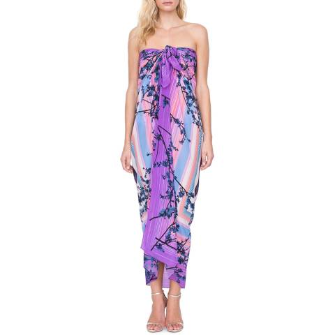 Gottex Hanami Multi Full length Silk Pareo One Size fits all