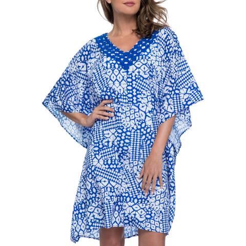 Gottex Diamond Batik Multi Blue Kaftan