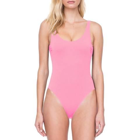 Gottex Coral Scoop Neck High Leg Underwire One Piece Swimsuit