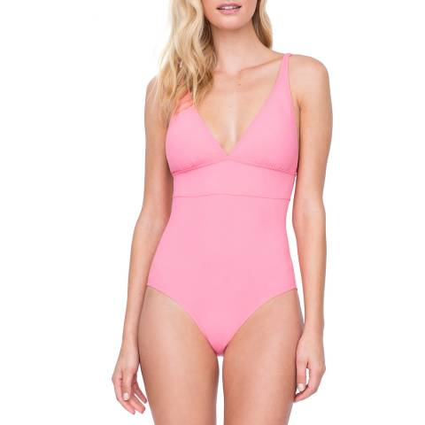 Gottex Coral V-Neck One Piece Swimsuit