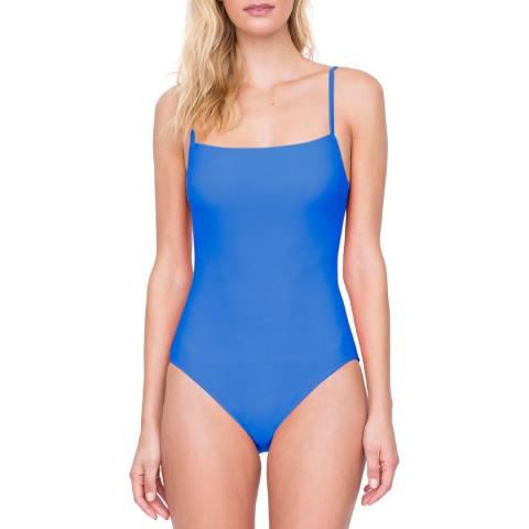 Gottex Dusk Blue Square Neck Lingerie Underwire one piece Swimsuit