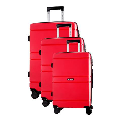 Travel One Red Caminera 8 Wheel Suitcase S/M/L