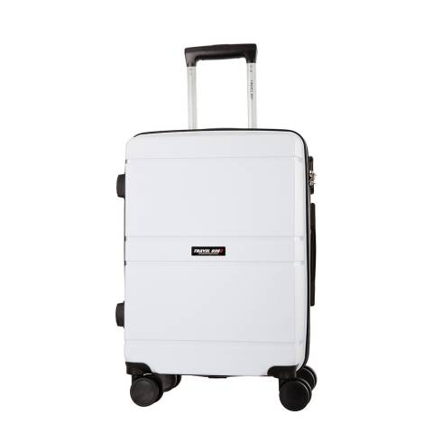 Travel One White Caminera 8 Wheel Suitcase 60cm