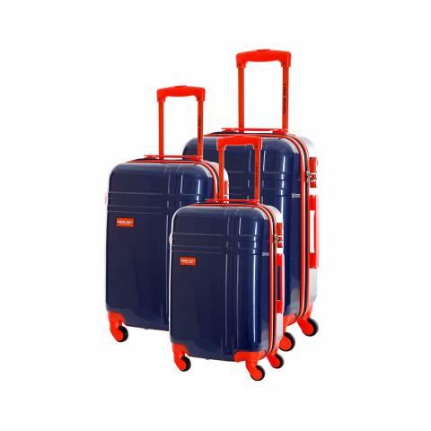 Travel One Marine Blue Broadwood 8 Wheel Suitcase S/M/L