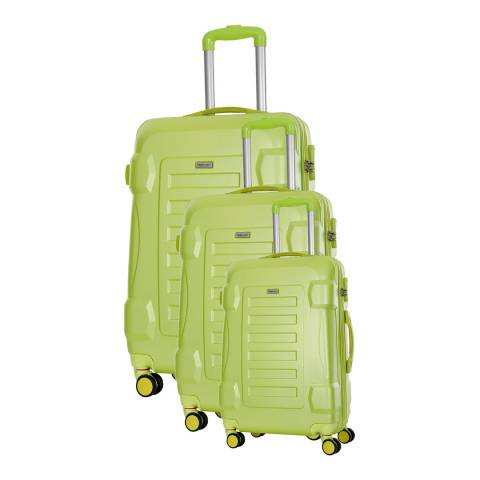 Travel One Green Linden 8 Wheel Suitcase S/M/L