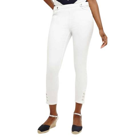 Phase Eight White Caroline Tab Jeans
