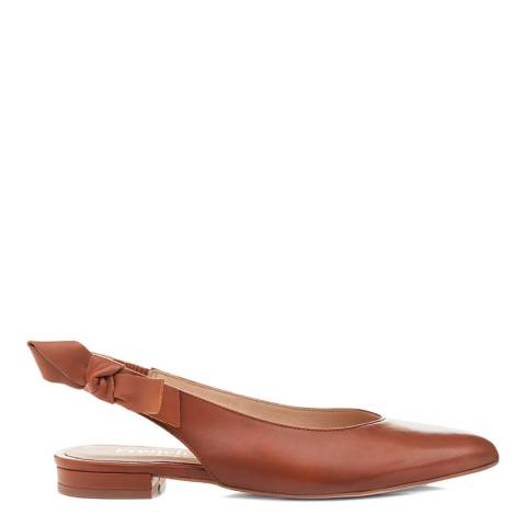 French Sole Tan Penelope Mule Pointed Ballerinas
