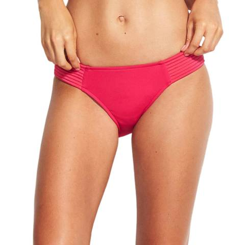 Seafolly Persian Pink Quilted Hipster Brief