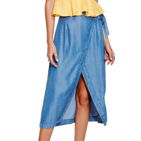 Seafolly Chambray Inka Gypsy Wrap Skirt