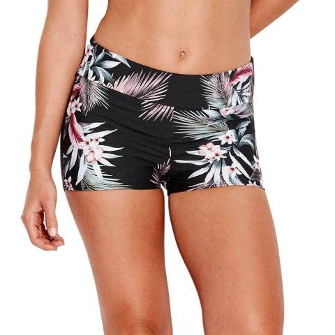 Seafolly Black Print Ocean Alley Active Short