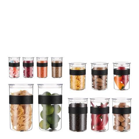 Bodum Set of 12 PRESSO Storage Jars