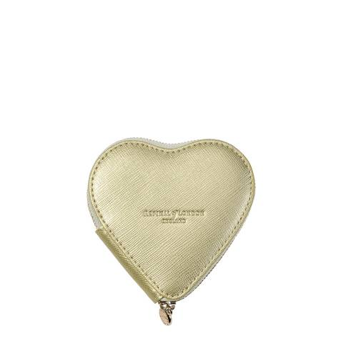 Aspinal of London Gold Carrera Heart Coin Purse