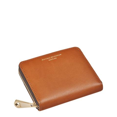 Aspinal of London Brown Continental Mini Slim Purse