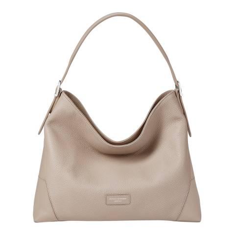 Aspinal of London Soft Taupe Small Hobo Bag
