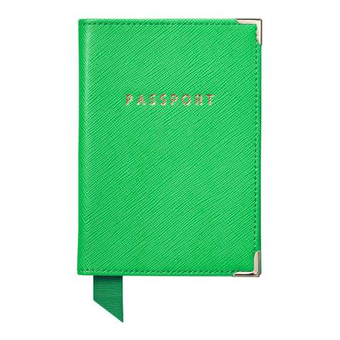 Aspinal of London Bright Green Carrera Passport Cover