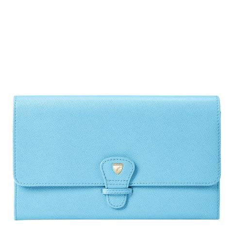 Aspinal of London Bright Blue Classic Travel Wallet