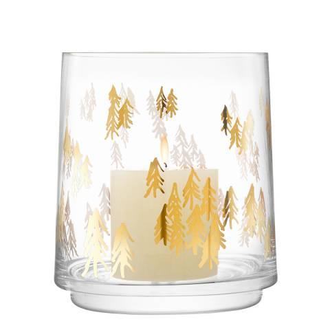LSA Gold Fir Metallic Lantern H16cm