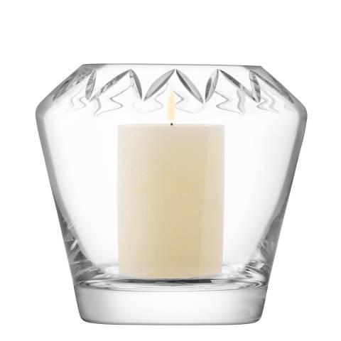 LSA Clear Frieze Lantern/Vase H16.5cm