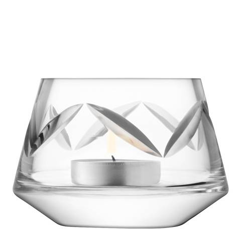 LSA Clear Frieze Tealight Holder H6.5cm