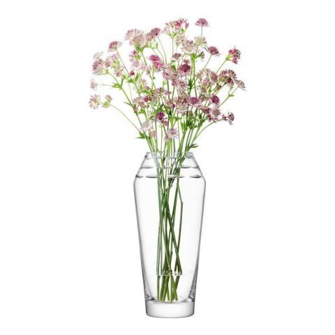 LSA Clear Frieze Vase H34cm